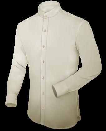Camisa Cuello Mao Hombre