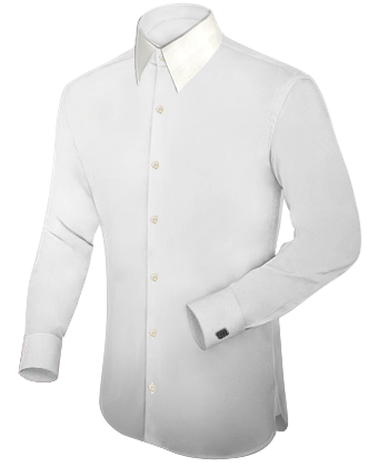 c1125095ea Camisas Hombre Para Traje with French Collar 1 Button