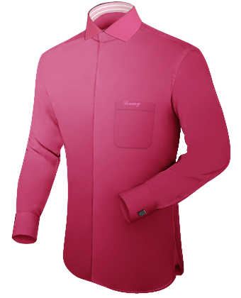 Camisas A Medida with Italian Collar 1 Button