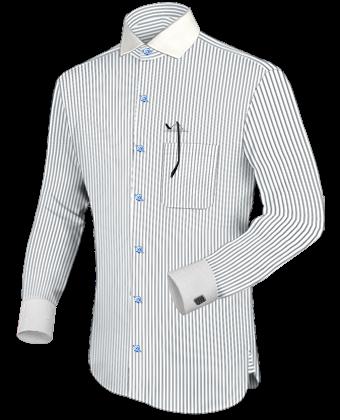 cf88a8cd49d Camisa Hombre Clasicas with Italian Collar 1 Button